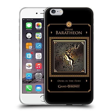 Official Hbo Game Of Thrones Golden Sigils Baratheon Border Soft Gel Case For Apple Iphone 6 Plus / 6S Plus