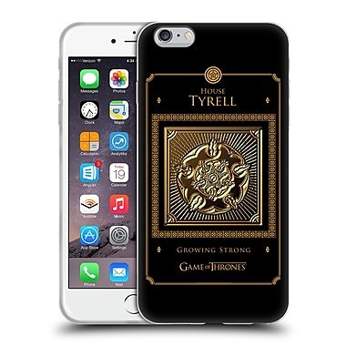 Official Hbo Game Of Thrones Golden Sigils Tyrell Border Soft Gel Case For Apple Iphone 6 Plus / 6S Plus