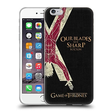 Official Hbo Game Of Thrones House Mottos Bolton Soft Gel Case For Apple Iphone 6 Plus / 6S Plus