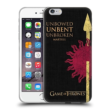 Official Hbo Game Of Thrones House Mottos Martell Soft Gel Case For Apple Iphone 6 Plus / 6S Plus