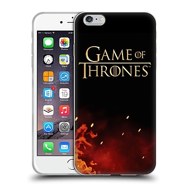 Official Hbo Game Of Thrones Key Art Logo Soft Gel Case For Apple Iphone 6 Plus / 6S Plus