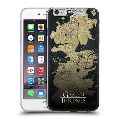 Official Hbo Game Of Thrones Key Art Westeros Map Soft Gel Case For Apple Iphone 6 Plus / 6S Plus