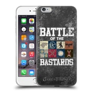 Official Hbo Game Of Thrones Battle Of The Bastards Distressed Text & Sigils Soft Gel Case For Apple Iphone 6 Plus / 6S Plus