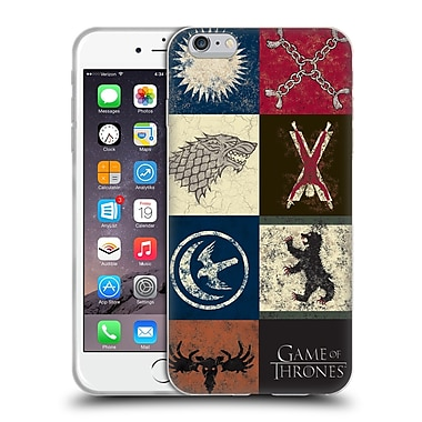 Official Hbo Game Of Thrones Battle Of The Bastards House Sigils Soft Gel Case For Apple Iphone 6 Plus / 6S Plus