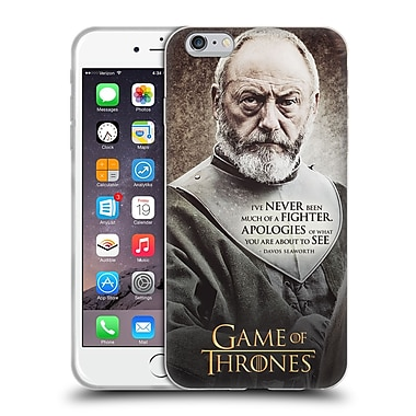 Official Hbo Game Of Thrones Character Quotes Davos Seaworth Soft Gel Case For Apple Iphone 6 Plus / 6S Plus