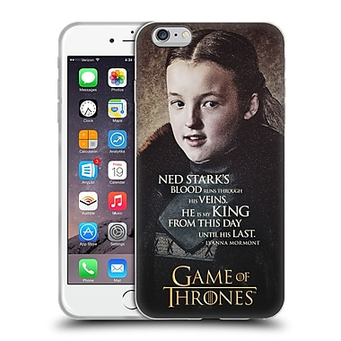 Official Hbo Game Of Thrones Character Quotes Lyanna Mormont Soft Gel Case For Apple Iphone 6 Plus / 6S Plus