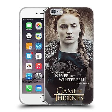 Official Hbo Game Of Thrones Character Quotes Sansa Stark Soft Gel Case For Apple Iphone 6 Plus / 6S Plus