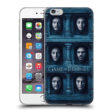 Official Hbo Game Of Thrones Faces Six Heads Soft Gel Case For Apple Iphone 6 Plus / 6S Plus