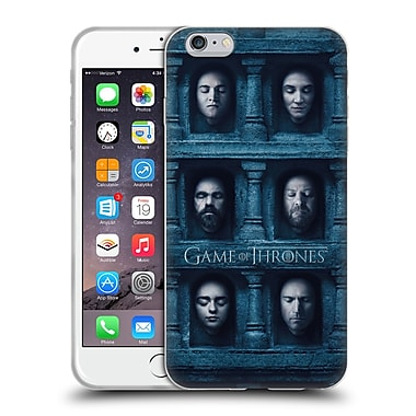 Official Hbo Game Of Thrones Faces 2 Six Heads Soft Gel Case For Apple Iphone 6 Plus / 6S Plus