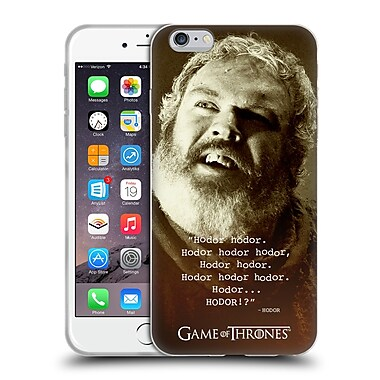 Official Hbo Game Of Thrones Hodor Memorial Type Quote Soft Gel Case For Apple Iphone 6 Plus / 6S Plus
