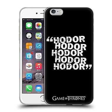 Official Hbo Game Of Thrones Hodor Quote 2 Soft Gel Case For Apple Iphone 6 Plus / 6S Plus