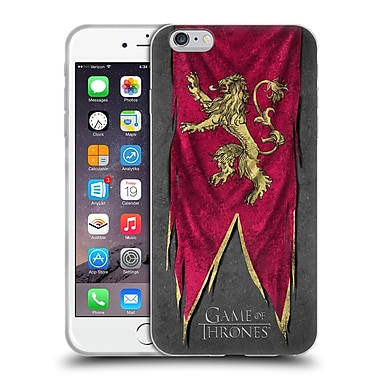 Official Hbo Game Of Thrones Sigil Flags Lannister Soft Gel Case For Apple Iphone 6 Plus / 6S Plus