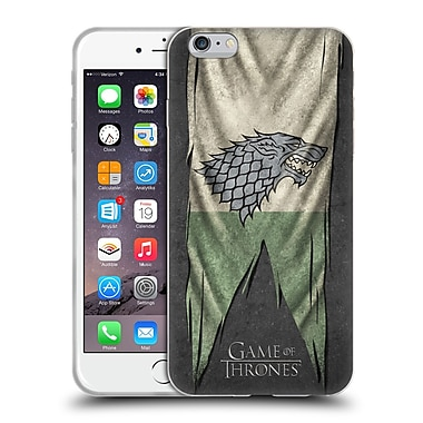 Official Hbo Game Of Thrones Sigil Flags Stark Soft Gel Case For Apple Iphone 6 Plus / 6S Plus