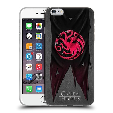 Official Hbo Game Of Thrones Sigil Flags Targaryen Soft Gel Case For Apple Iphone 6 Plus / 6S Plus