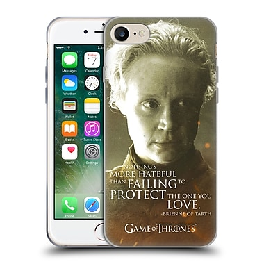 Official Hbo Game Of Thrones Character Portraits Brienne Of Tarth Soft Gel Case For Apple Iphone 7