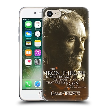 Official Hbo Game Of Thrones Character Portraits Stannis Baratheon Soft Gel Case For Apple Iphone 7