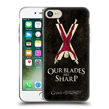 Official Hbo Game Of Thrones Dark Distressed Sigils Bolton Soft Gel Case For Apple Iphone 7