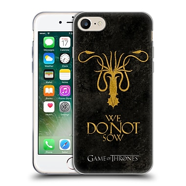 Official Hbo Game Of Thrones Dark Distressed Sigils Greyjoy Soft Gel Case For Apple Iphone 7