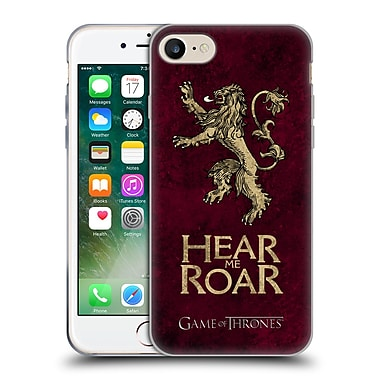 Official Hbo Game Of Thrones Dark Distressed Sigils Lannister Soft Gel Case For Apple Iphone 7