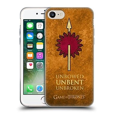 Official Hbo Game Of Thrones Dark Distressed Sigils Martell Soft Gel Case For Apple Iphone 7