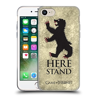 Official Hbo Game Of Thrones Dark Distressed Sigils Mormont Soft Gel Case For Apple Iphone 7