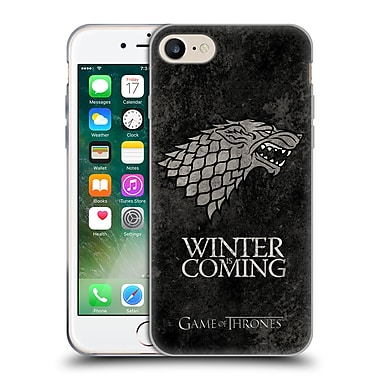 Official Hbo Game Of Thrones Dark Distressed Sigils Stark Soft Gel Case For Apple Iphone 7