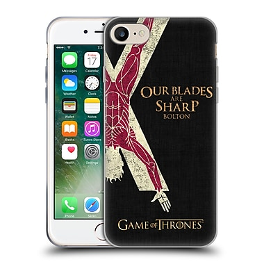 Official Hbo Game Of Thrones House Mottos Bolton Soft Gel Case For Apple Iphone 7