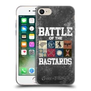 Official Hbo Game Of Thrones Battle Of The Bastards Distressed Text & Sigils Soft Gel Case For Apple Iphone 7