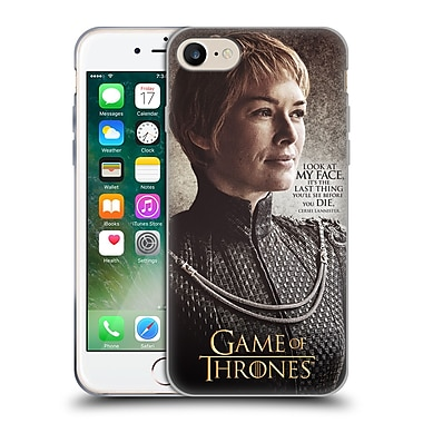 Official Hbo Game Of Thrones Character Quotes Cersei Lannister Soft Gel Case For Apple Iphone 7
