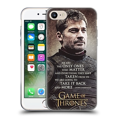Official Hbo Game Of Thrones Character Quotes Jaime Lannister Soft Gel Case For Apple Iphone 7