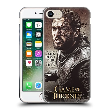 Official Hbo Game Of Thrones Character Quotes Jon Snow Soft Gel Case For Apple Iphone 7