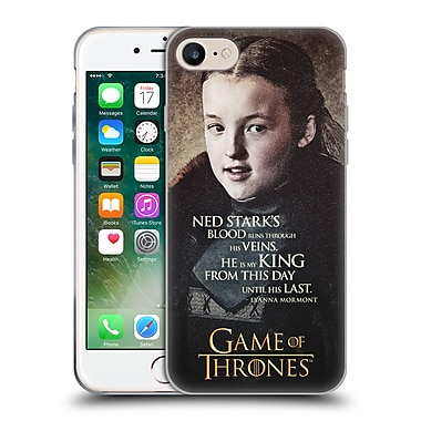 Official Hbo Game Of Thrones Character Quotes Lyanna Mormont Soft Gel Case For Apple Iphone 7