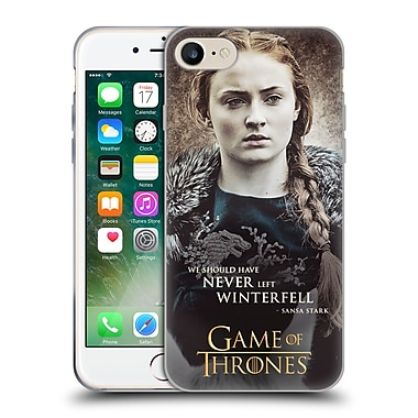Official Hbo Game Of Thrones Character Quotes Sansa Stark Soft Gel Case For Apple Iphone 7
