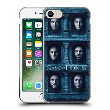 Official Hbo Game Of Thrones Faces Six Heads Soft Gel Case For Apple Iphone 7