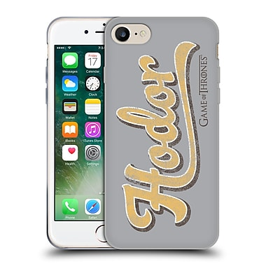 Official Hbo Game Of Thrones Hodor Athletic Typography Soft Gel Case For Apple Iphone 7