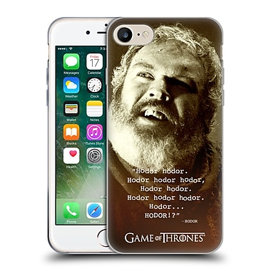 Official Hbo Game Of Thrones Hodor Memorial Type Quote Soft Gel Case For Apple Iphone 7