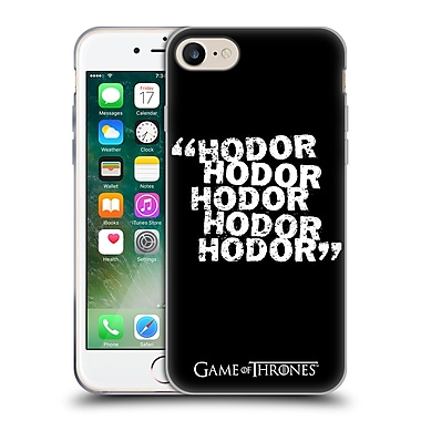 Official Hbo Game Of Thrones Hodor Quote 2 Soft Gel Case For Apple Iphone 7