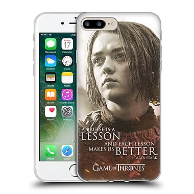 Official Hbo Game Of Thrones Character Portraits Arya Stark Soft Gel Case For Apple Iphone 7 Plus