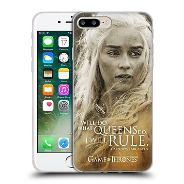 Official Hbo Game Of Thrones Character Portraits Daenerys Targaryen Soft Gel Case For Apple Iphone 7 Plus