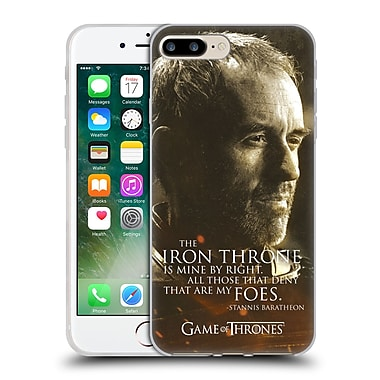 Official Hbo Game Of Thrones Character Portraits Stannis Baratheon Soft Gel Case For Apple Iphone 7 Plus