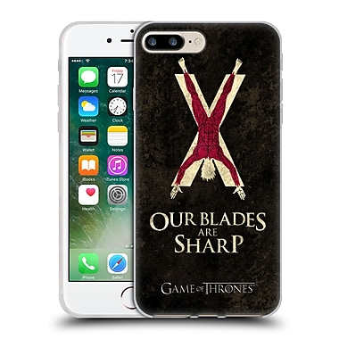 Official Hbo Game Of Thrones Dark Distressed Sigils Bolton Soft Gel Case For Apple Iphone 7 Plus