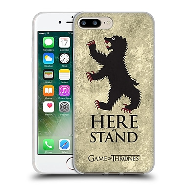 Official Hbo Game Of Thrones Dark Distressed Sigils Mormont Soft Gel Case For Apple Iphone 7 Plus