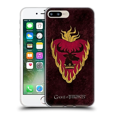 Official Hbo Game Of Thrones Dark Distressed Sigils Stannis Soft Gel Case For Apple Iphone 7 Plus