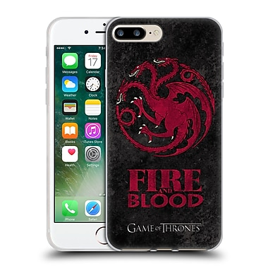 Official Hbo Game Of Thrones Dark Distressed Sigils Targaryen Soft Gel Case For Apple Iphone 7 Plus