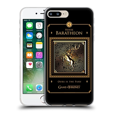 Official Hbo Game Of Thrones Golden Sigils Baratheon Border Soft Gel Case For Apple Iphone 7 Plus