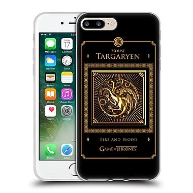 Official Hbo Game Of Thrones Golden Sigils Targaryen Border Soft Gel Case For Apple Iphone 7 Plus