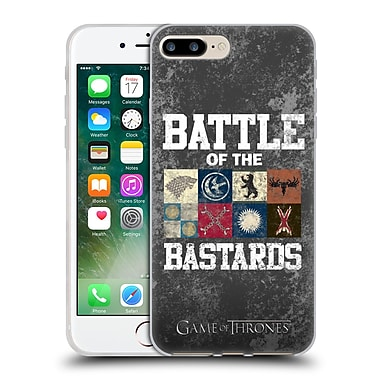 Official Hbo Game Of Thrones Battle Of The Bastards Distressed Text & Sigils Soft Gel Case For Apple Iphone 7 Plus