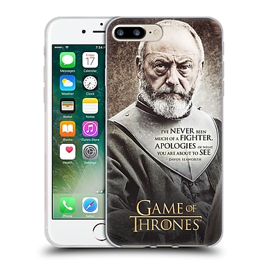 Official Hbo Game Of Thrones Character Quotes Davos Seaworth Soft Gel Case For Apple Iphone 7 Plus