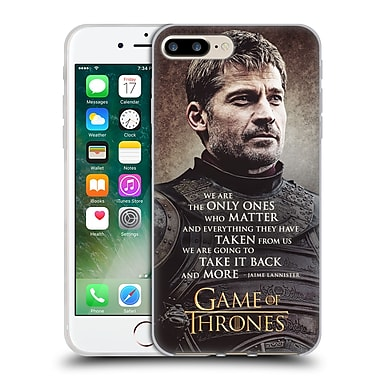 Official Hbo Game Of Thrones Character Quotes Jaime Lannister Soft Gel Case For Apple Iphone 7 Plus