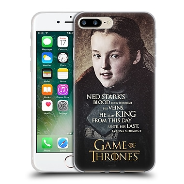 Official Hbo Game Of Thrones Character Quotes Lyanna Mormont Soft Gel Case For Apple Iphone 7 Plus